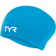 TYR Wrinkle-Free Silicone Long Hair Swimming Cap blue